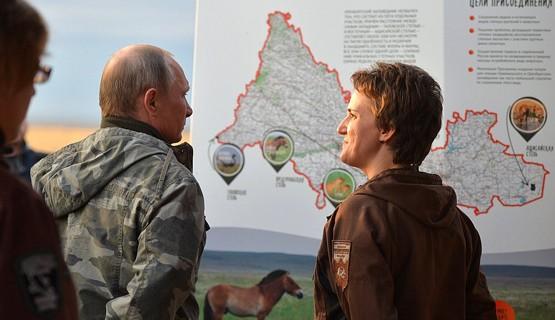 Визит Президента в Национальный парк «Оренбургский» // Оренбург
