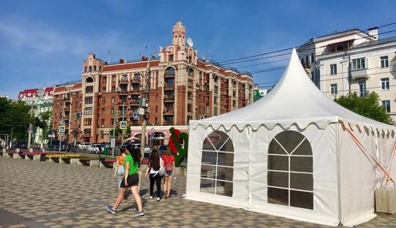 Оснащение тентами фестиваля «Волга Фест» (Самара)