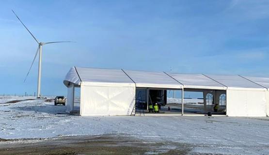 Запуск первой очереди ветроэлектростанции (Бадамша, Казахстан)