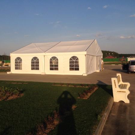 Двускатный шатер, пролет 10 м.